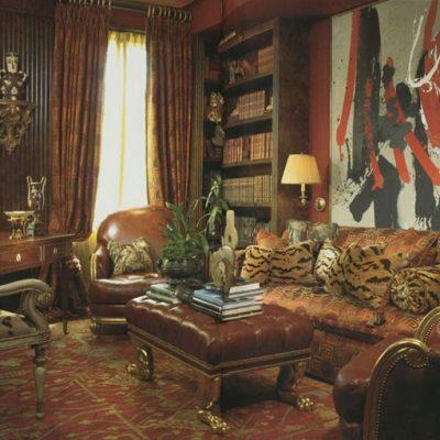 Oushak Carpet Room Setting Antique 10 x 14 ft