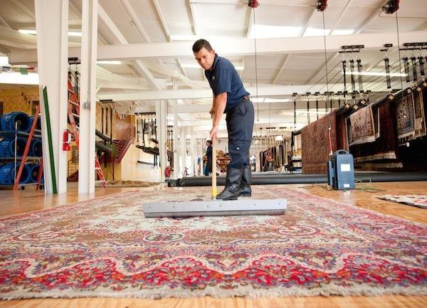 Rug cleaning by Hand